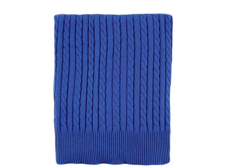 Hudson Baby Cable Knit Blanket Blue 30 X 40 Super Soft, Cute, Cuddly NEW