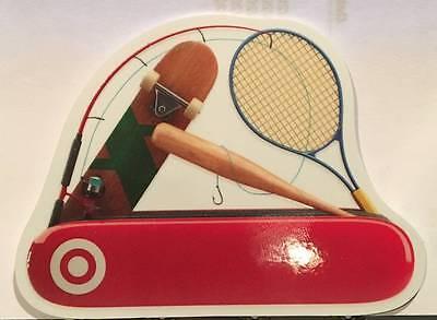 Swiss Army Gift Card (Target Swiss Army Knife Sports Tennis Fishing Die-Cut 2015 Gift Card)