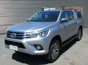 2017 Toyota Hilux GUN126R SR5 Double Cab Silver 6 Speed Sports Automatic Utility Lilydale Yarra Ranges Preview