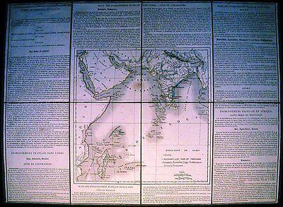 Antique map, Francaise orientales