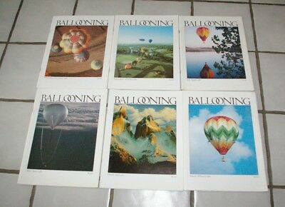 1980 Ballooning Magazine Publication Full Year 6 Issues Don Piccard