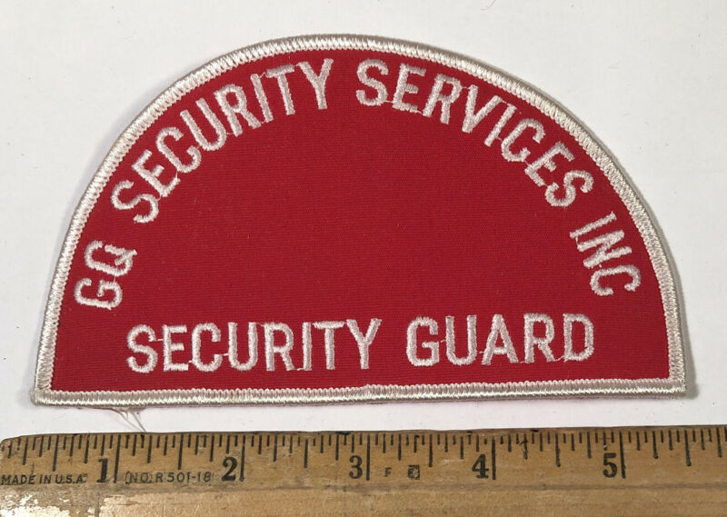 Vintage GQ Security Services Inc Guard Officer Patch District Heights Maryland