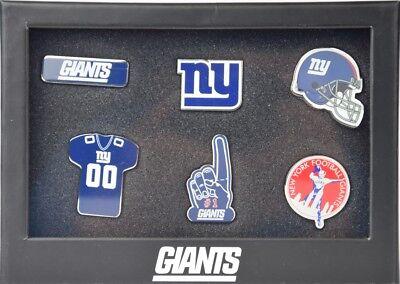 NFL Football New York NY Giants 6 teiliges Stück Badge Pin Set mit Helm Logo