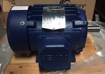 New 1 Hp Motor Hemco Cast Iron 3480rpm 3 Phase 143t Frame Eb0012fba