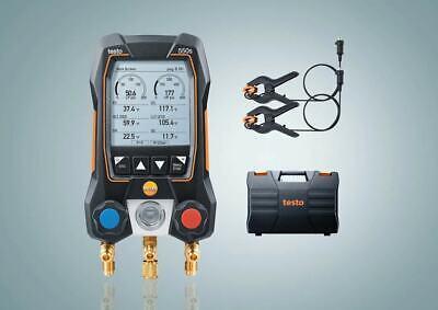 Testo 550s Basic Kit - Digital Manifold With 2 Way Valve Wired Temperature Prob