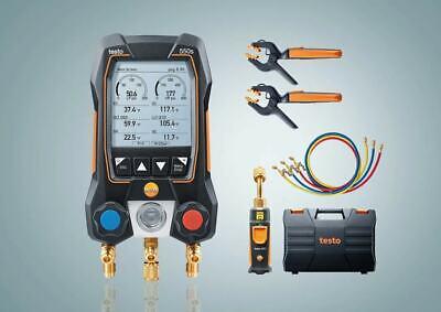 Testo 550s Smart Kit - Digital Manifold With 2 Way Valve 115i Temp Probes X2