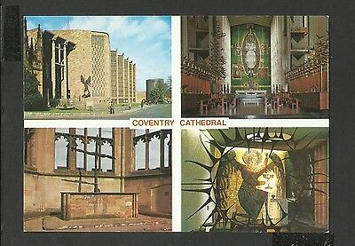Judges Multi View Colour Postcard Coventry Cathedral Warwickshire unposted