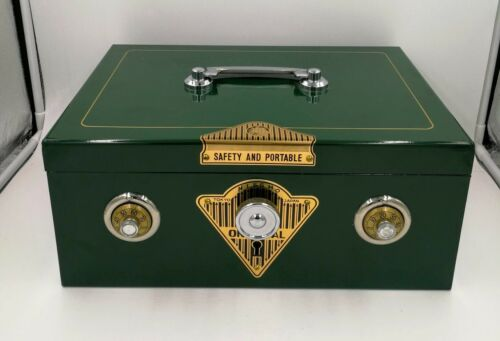Vintage Japanese alarm cash box safe NOS