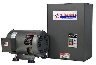 PL-5 Pro-Line 5HP Rotary Phase Converter - Built-In Starter, Made in USA