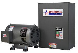 5 hp rotary phase converter pl 5 pro line 5hp rotary phase converter built in starter