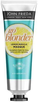 John Frieda Sheer Blonde Go Blonder Lemon Miracle Masque For Blonde Hair 100ml