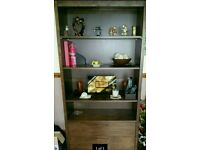 SOLID WOOD BOOKCASE WITH DRAWERS