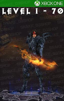 Diablo 3 Xbox One   Fully Modded Set Demon Hunter   Unhallowed   Level 1   70