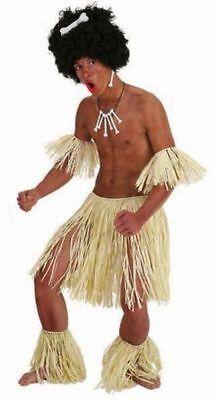 Orl - Zubehör Set zum Zulu Afrikaner Kostüm an Karneval Fasching mit - Rocker Kostüm Zubehör