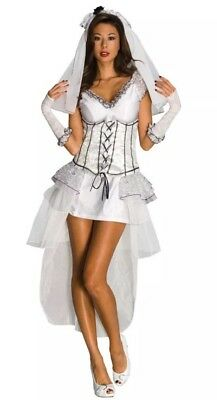 Secret Wishes Sexy Gothic Wedding Bride Mistress Women's Costume Small (2-6)
