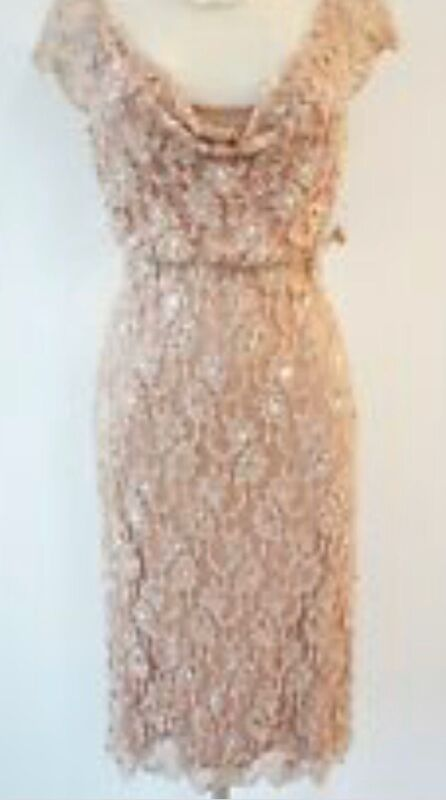 PHASE EIGHT Beautiful Pearl Lace MOTHER OF THE BRIDE DRESS - SPECIAL OCCASION