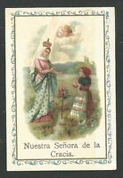 Estampa Antigua Virgen De La Gracia Andachtsbild Santino Holy Card Santini -  - ebay.es