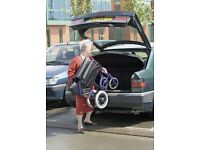 foldable lightweight wheelchair - easy transport Invacare Alulite