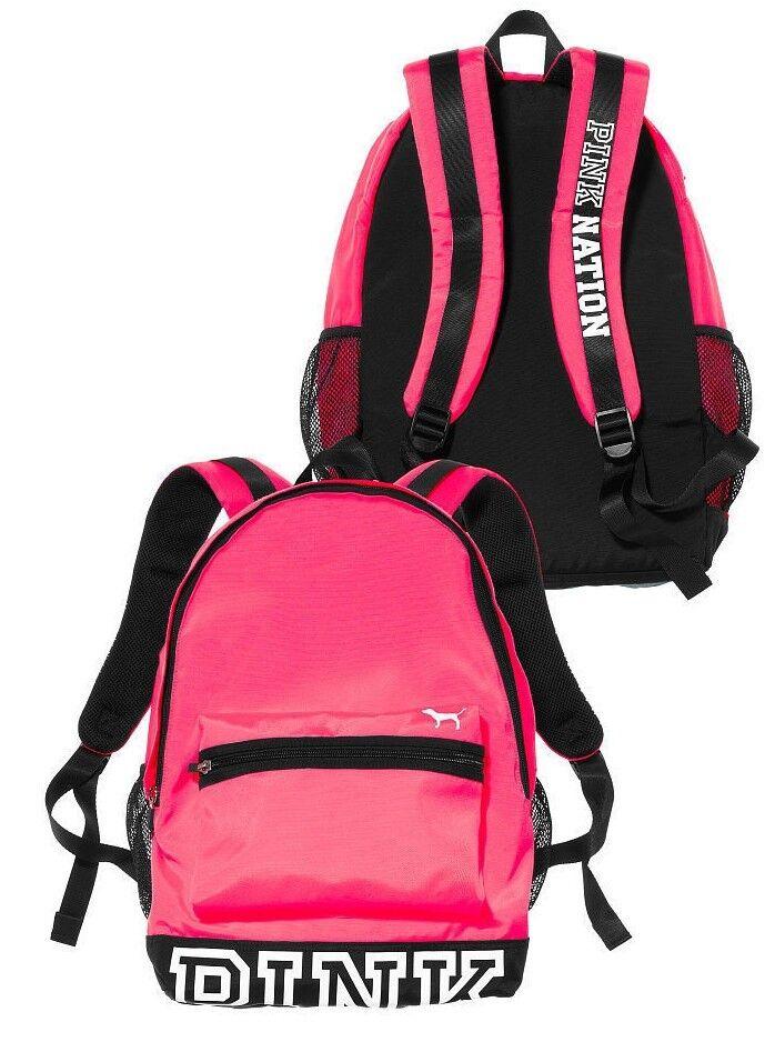 Victoria's Secret PINK NATION Campus HOT PINK Backpack Bookb
