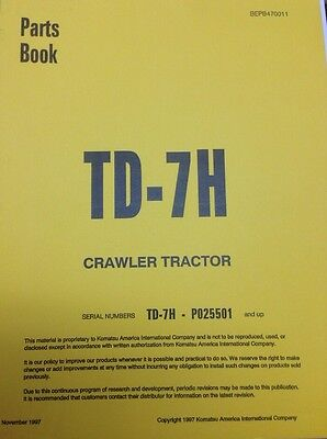 International Ih Dresser Td7h Crawler Tractor Dozer Parts Book Manual P025501 Up