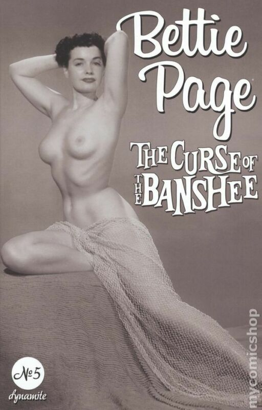 Bettie Page and the Curse of the Banshee #5K Black Bag NM 2021 Stock Image