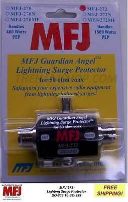 MFJ 272 Lightning Protector, With SO-239 Connections, 1500 Watts Up TO 1000 MHZ