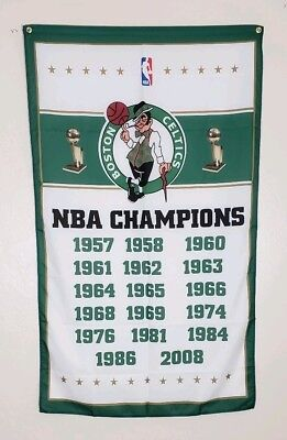 Boston Celtics Championship Banner 3x5 Flag Man Cave Decor NBA World Champions 5 Decor Banner