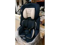 A brand new still boxed child's car seat.
