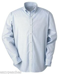 Ashworth-Golf-Mens-S-2XL-3XL-EZ-Tech-Check-Pattern-Woven-Oxford-Wrinkle-Resist