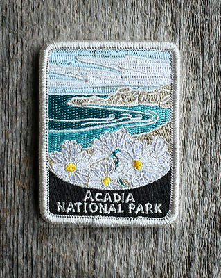 Official Acadia National Park Souvenir Patch Traveler Series Iron-on Maine
