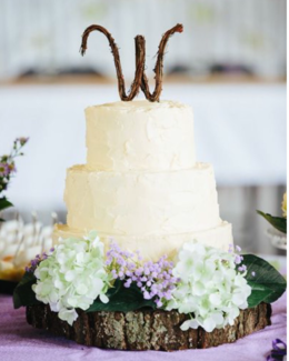 Woodland Rustic Wooden cake board