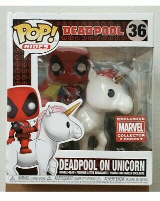 NEW ~ Funko Pop! Rides DEADPOOL ON UNICORN #36 Marvel Collector Corps EXCLUSIVE