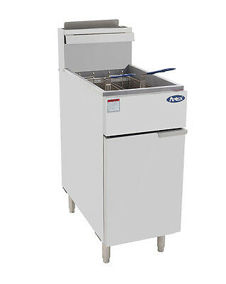 Atosa Atfs-40 Commercial 40lb Nat Gas Deep Fryer Gas
