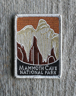Mammoth Cave National Park Souvenir Patch Traveler Series Iron-on Kentucky