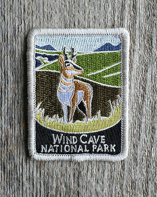 Wind Cave National Park Souvenir Patch Traveler Series Iron-on South Dakota