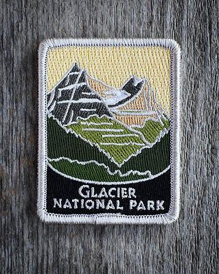 Official Glacier National Park Souvenir Patch Traveler Series Iron-on Montana