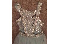 Embellished Mesh Prom Dress size 8