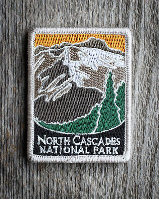 North Cascades National Park Souvenir Patch Traveler Series Iron-on Washington
