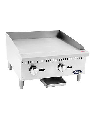 Atosa Usa Atmg-24 Heavy Duty 24 Griddle Grill Nat Gas Lp Flat Stainless Steel