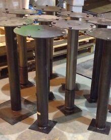 Industrial galvanised steel bar cafe bistro table legs