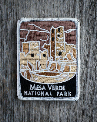 Mesa Verde National Park Souvenir Patch Traveler Series Iron-on Colorado