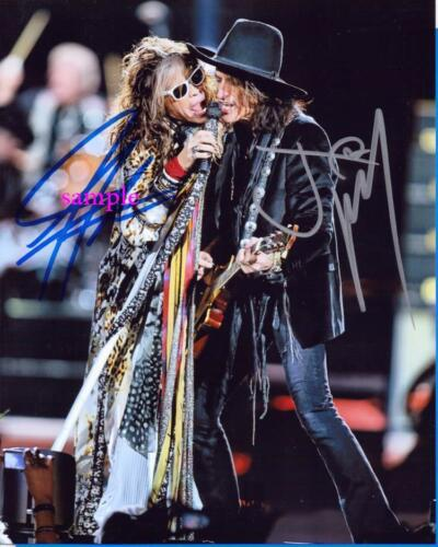 STEVEN TYLER JOE PERRY REPRINT PHOTO 8X10 SIGNED AUTOGRAPHED MAN CAVE AEROSMITH