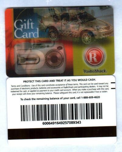 RADIO SHACK Remote Control Car, Camera 2006 Lenticular Gift Card ( $0 )  V2