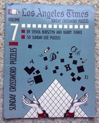 Los Angeles Times Sunday Crossword Puzzles  Volume 7 By Sylvia Bursztyn 1992 Pb