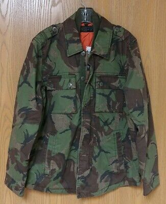 NWT Abercrombie & Fitch Mens $120 Lined Camo Military Jacket Coat ~ M
