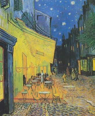 Cafe Terrace at Nigh Vincent Van Gogh Painting Canvas Print Wall Art Small 8x10 for sale  North York