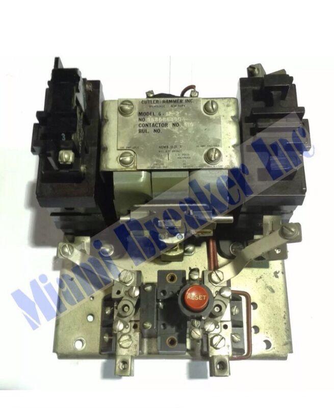 9586H6300A Cutler Hammer Model 6-12-2 Contactor Nema Size 3 Coil 220V