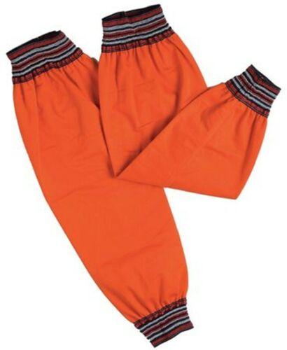 """Condor Welding Grinding Sleeves 22.5"""" Flame Resistant Orange Elastic Cuffs PAIR"""