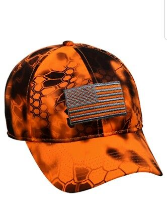 87e5e228061 Kryptek Patriotic US Flag Cap Hunting Hat Inferno Orange Baseball Cap  KRY-010