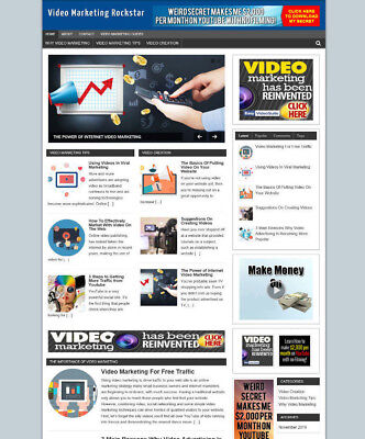 Video Marketing Blog Website With Affiliate Store New Domain And Hosting
